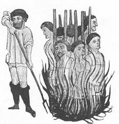 heresy, burning at the stake