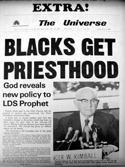Priesthood Ban Reversed